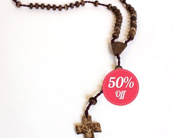 10 Coconut Shell Rosaries