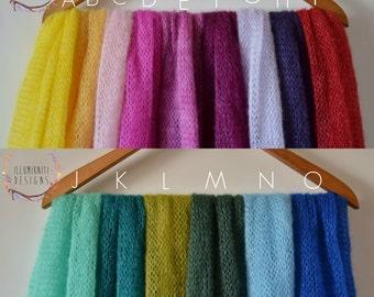 Newborn Wraps - Stretch Knit Wraps - Mohair Wrap - Knitted Mohair Prop Wraps - Soft Stretch Knit Wraps - Newborn Photo Props - Ready to Ship