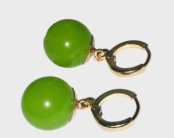 POTARA-styled Earrings - Small Green-Colored Gold (As worn by Zamasu/Black Goku)