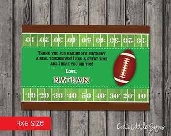 Football Birthday Thanks Card Digital Download