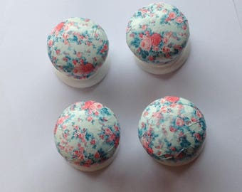 Door Knobs,Drawer Knobs,Floral Drawer Knobs, Drawer Handles, Shabby Chic Drawer Knobs, Decoupaged  Door Knobs