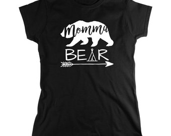 Momma Bear Shirt - gift idea, mother's day gift, new mom, mama, mom of multiples - ID: 1950