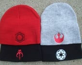 Rebel Empire Mandalorian and New Order Embroidered Beanies