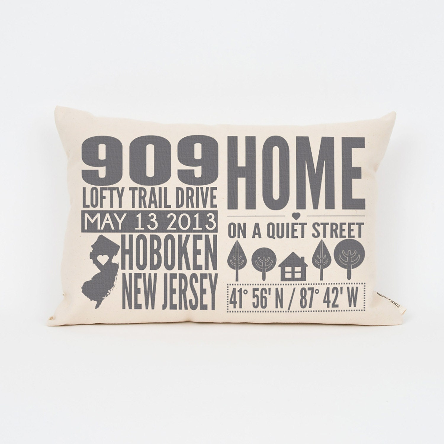 Housewarming Gift Pillow, Home State Pillow, Personalized Gifts, Realtor Closing Gift, Home Decor, Throw Pillow, Custom Home Decor