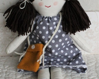 Rag doll, little doll, girls doll, handmade cloth doll, small doll, gift for girl, forever doll, present for little girl