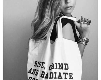 Good Vibes Canvas Tote