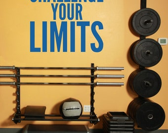 Home Gym and Fitness Wall Decal Challenge Your Limits - Vinyl Wall Words