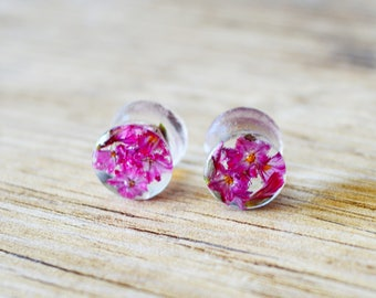 resin plugs real flowers Gauges Plugs dried flower plug red floral Plug ear plugs 00g plugs plugs and tunnels 0g plugs 2g plugs 7/16 plugs