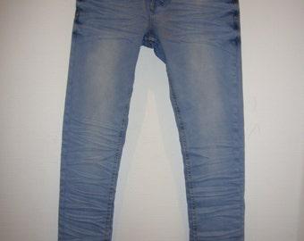 Light Blue Washed Denim Jeans.