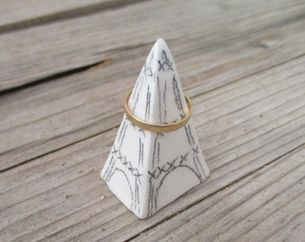 Eiffel Tower Ring Cone,Little ceramic Eiffel Tower,Paris Miniature,Wedding Ring Cone,Ring Cone,Wedding Ring Holder,Engagement Ring Cone