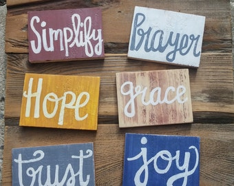 One Word Wood Pallet Sign, Choose Your Word, Personalized One Word Wood Sign, One Word, New Years Resolution Sign, Wooden Sign, Pallet Art
