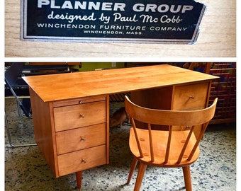 Planner Group by Paul McCobb for Winchedon Furniture Desk and Spindle Chair