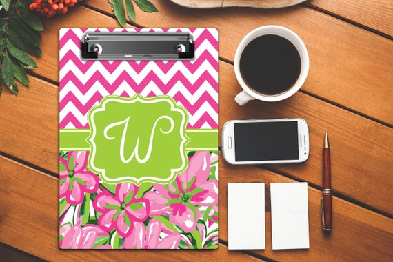 Personalized Teacher Gifts Cute School Gifts for Her Monogrammed Clip Board Custom Clipboard Personalized Gift College Graduation Gift