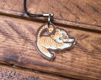 "1"" Animal Charms - Golden Tiger"