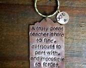Teacher Key Chain. Gift for Teacher Boss Mentor Doctor. Teacher Gift. Personalized Custom. End of Year Gift. Thank You. Got Keys. Cool