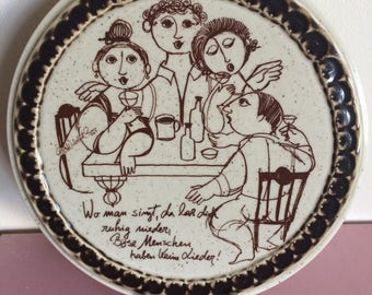 "Rosenthal Wiinblad ""Where People Sing"" Round Trivet"