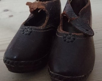 Antique children's Welsh clogs