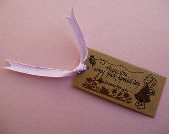 Handmade labels.    Brown label, price tag.  Garment tag, kraft brown paper. Gift tag.  Set of 20