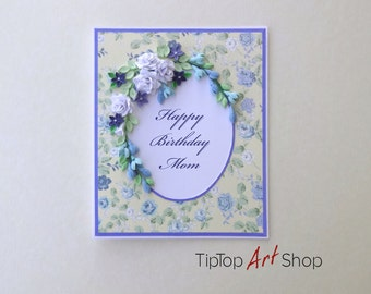 Birthday Quilling Card with Handmade Paper Flowers