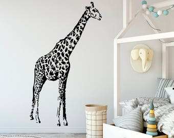 Exceptionnel African Animal Wall Decals Giraffe Decal Jungle Safari Vinyl Sticker Home  Decor Bedroom Dorm Nursery Kids