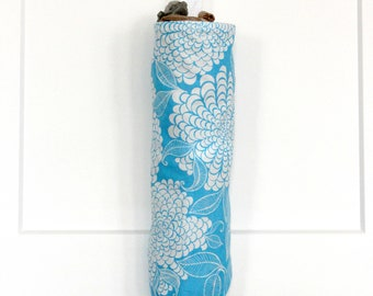 Floral Grocery Bag Holder Made with Robert Kaufman Azure Mystic Canvas Fabric