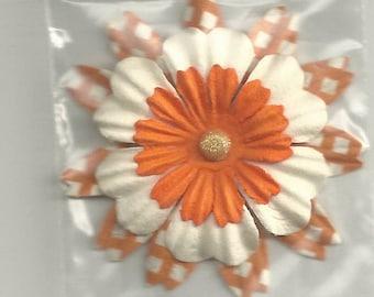 Orange Plaid Flower