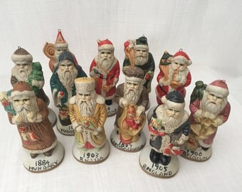 SALE! Rare Vintage International Santa  Claus ~ Father Christmas  ~ Ded Moroz Handpainted Unglazed Ceramic Limited Edition. Price for ONE!!!