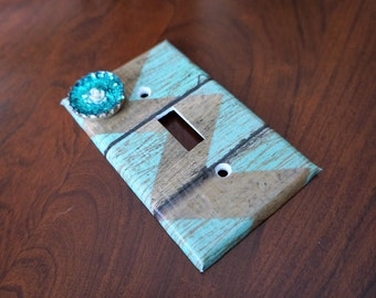 Turquoise Summer Barn Switchplate