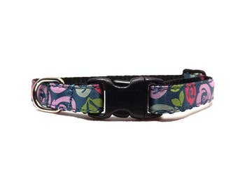 The Rosebud | Colourful Floral Cat Collar with Bell