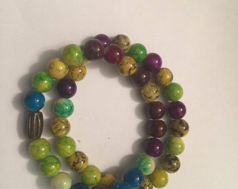 Multi Colored Glass Bead Bracelets