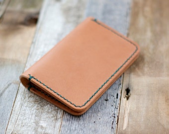 Leather Card Wallet Minimalist Leather Card Holder Vegetable Tanned Horween Leather Slim Wallet Leather Card Case Essex Bifold Men Gruffwood