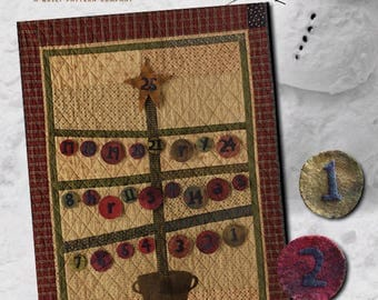 Pattern: Advent Calendar Quilt Pattern by Primitive Pieces by Lynda