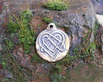 Celtic Heart, Bronze Pendant, Love Knot, Love, Celtic Knot, by the Green Man