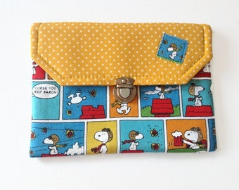 Snoopy Comics Ipad Mini Case, Peanuts Tablet Cover, Snoopy Flying Ace E-Reader