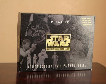 Vintage Star Wars Premiere customizable card game by Parker Brothers 1995
