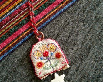 Embroidered Handmade Necklace***FEELGOOD necklace FLOWER