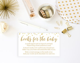 Bring a Book Printable, Baby Shower Invitation Insert, Baby Shower Printable, Printable Game, Baby Shower Game, Book for Baby BAS1