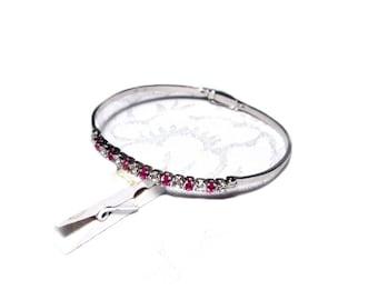 Bangle silver to the opening, Bangle silver zirconia to open Bracelet Precious Stone