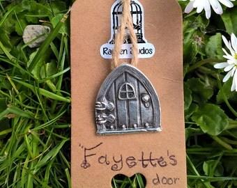 Fayettes Door Pendant / Fairy Door / PMC3 / Fine Silver 999 / Precious Metal Clay / Organic / Woodland / Fantasy / Fairy / Faery / Pixie