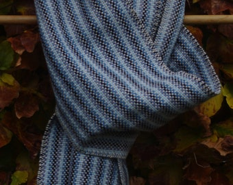 Four blues in a stripey scarf
