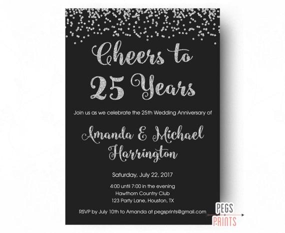 einladungskarten zum 25 geburtstag – kathyprice, Einladungsentwurf