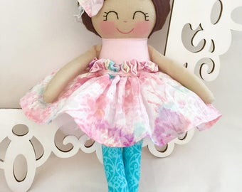 Cloth Baby Doll, Girl Gift -  Pink fabric doll