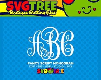Fancy Monogram SVG Monogram Letters SVG SVG Letters Commercial Free Cricut Files Silhouette Files Digital Cut Files svg cut files