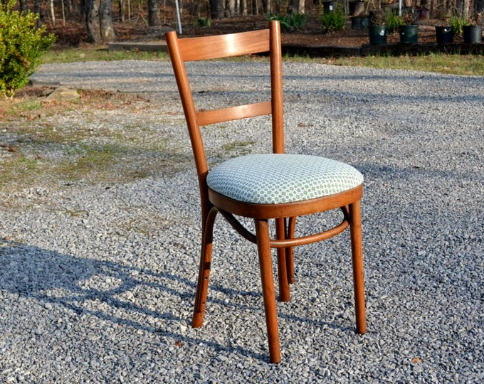 Vintage Bentwood Chair Upholstered Seat Desk Dining Chair Thonet Style PanchosPorch