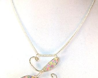 Initial Necklace, Sterling Silver Letter, Cursive Initial, Initial With Beads, Letter L Necklace, Personalized Alphabet, Cursive Capital