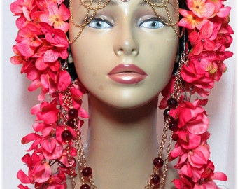ReadyToShip, Tribal Headpiece ~ Head dress ~ Bellydance ~ Burning Man, Fantasy Wear, Fairy Head dress, Fairy Headpiece, burlesques