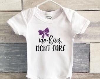 No Hair Don't Care Infant Bodysuit