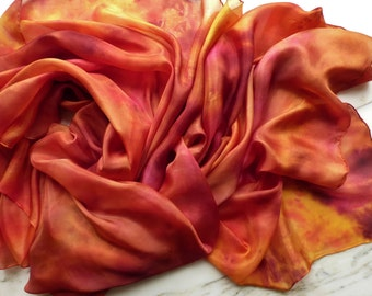 Silk Belly Dance Tie Dye Silk Veil