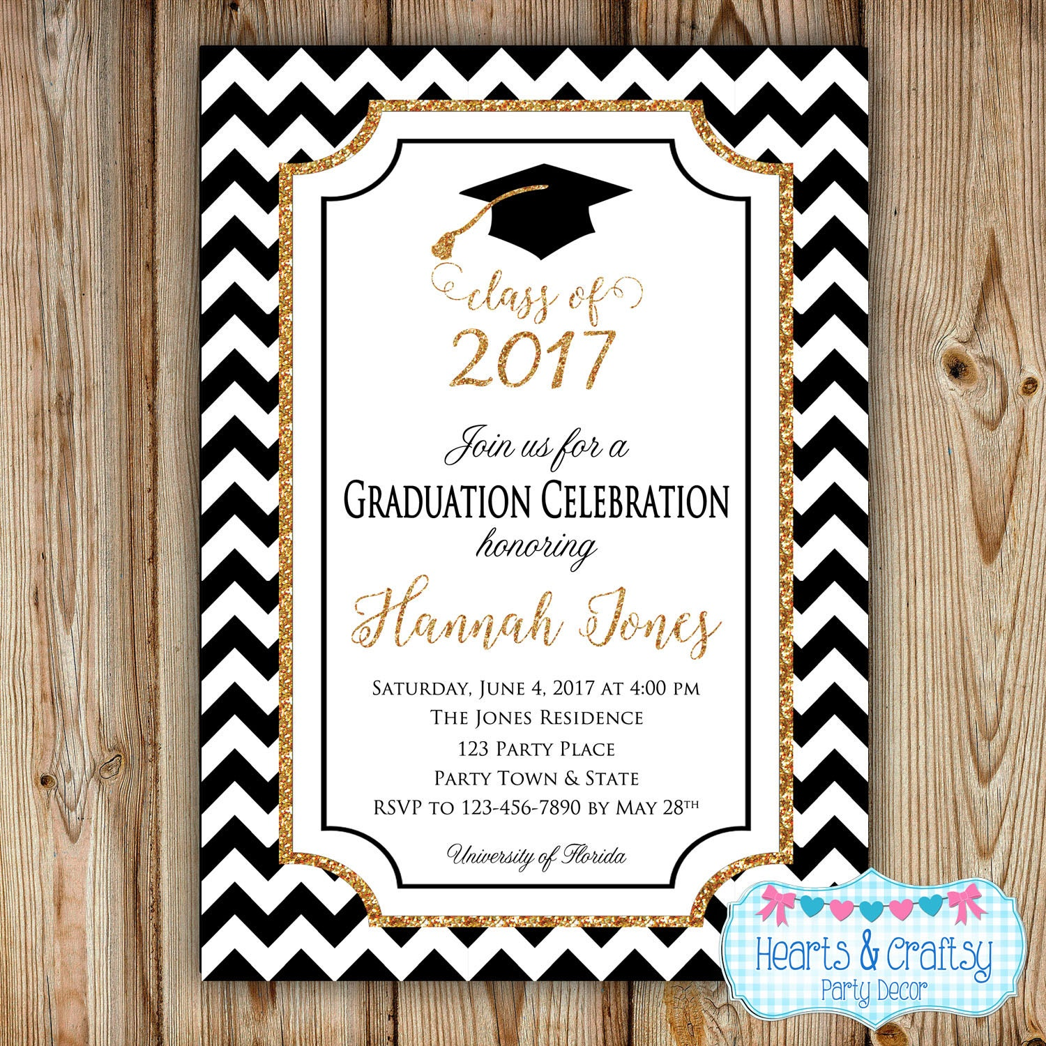 Graduation party invitation college graduation invitation for Free graduation announcements templates