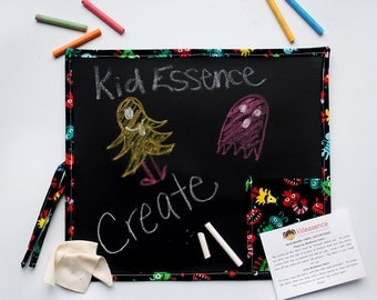 Kid's Chalkboard with Monsters - Kid's Travel Chalkboard - Kid's Chalkboard Mat - Portable Chalkboard - Monsters Chalkboard - Travel Toy
